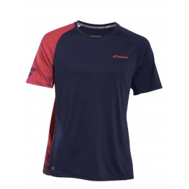 BABOLAT TEE-SHIRT CREW NECK PERFORMANCE 2BS19011 BOY JUNIOR BLACK SALSA