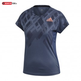 ADIDAS COLOUR BLOCK TEE WOMEN INDIGO