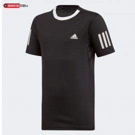 ADIDAS CLUB 3 STRIPES TEE JUNIOR BOY BLACK