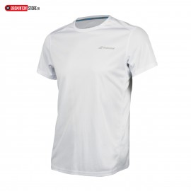 BABOLAT TEE-SHIRT CORE FLAG CLUB TEE 3BS18011 BOY JUNIOR BLANC