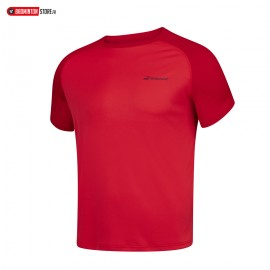 BABOLAT TEE-SHIRT PLAY CREW NECK TEE 3BP1011 BOY JUNIOR ROUGE