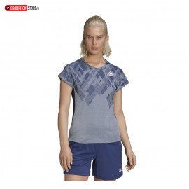 ADIDAS COLOUR BLOCK TEE WOMEN SKYTIN
