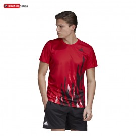 ADIDAS GRAPHIC TEE MEN ROUGE
